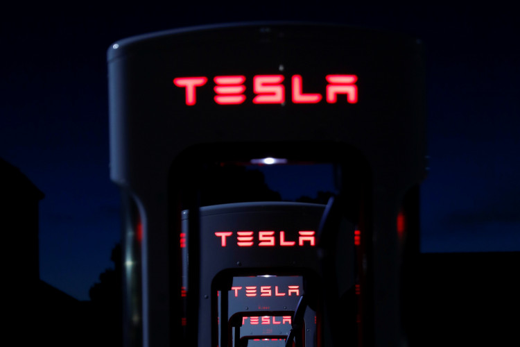 Tesla Superchargers are shown in Mojave, California, U.S., March 11. 2019.    (Photo: REUTERS/Mike Blake)