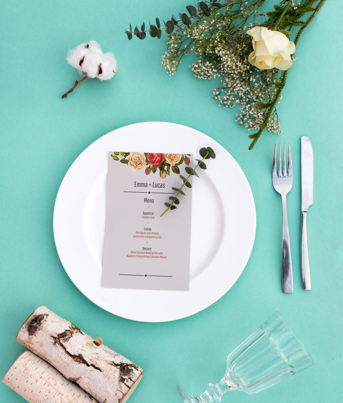 Commissioned wedding set - Client: Albelli - Design, Illustration