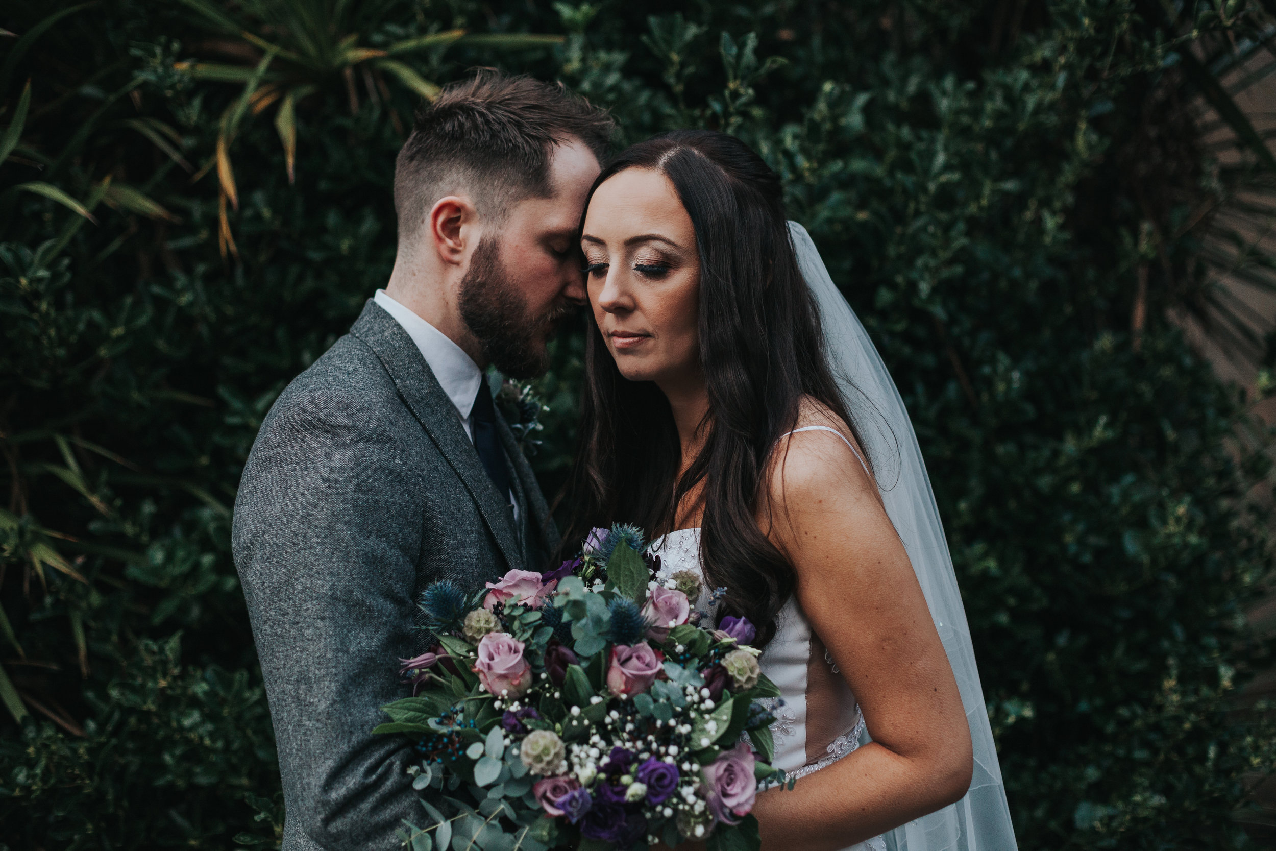 Bride and Groom in the jungle