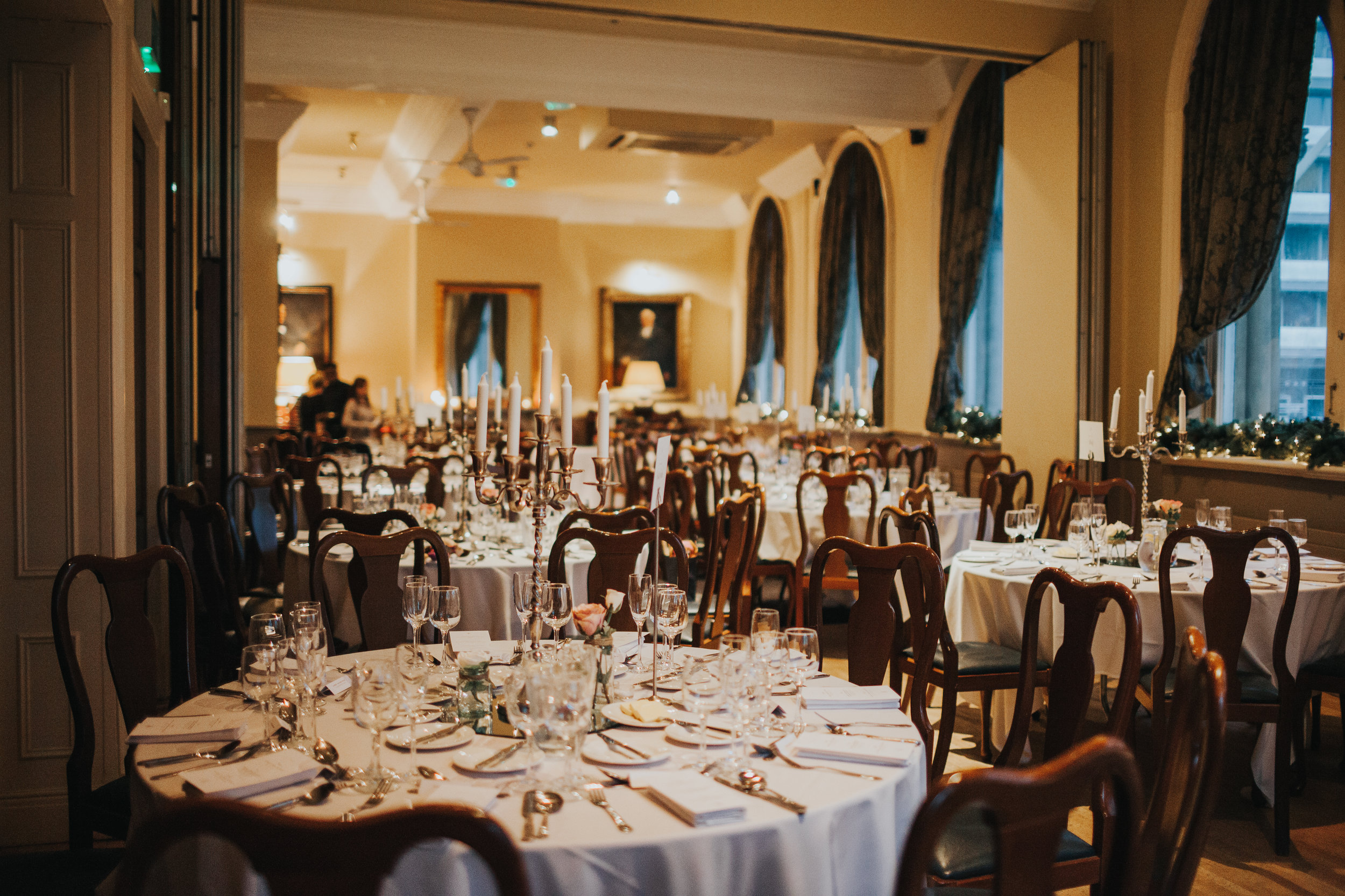 Tables inside the Racquet Club