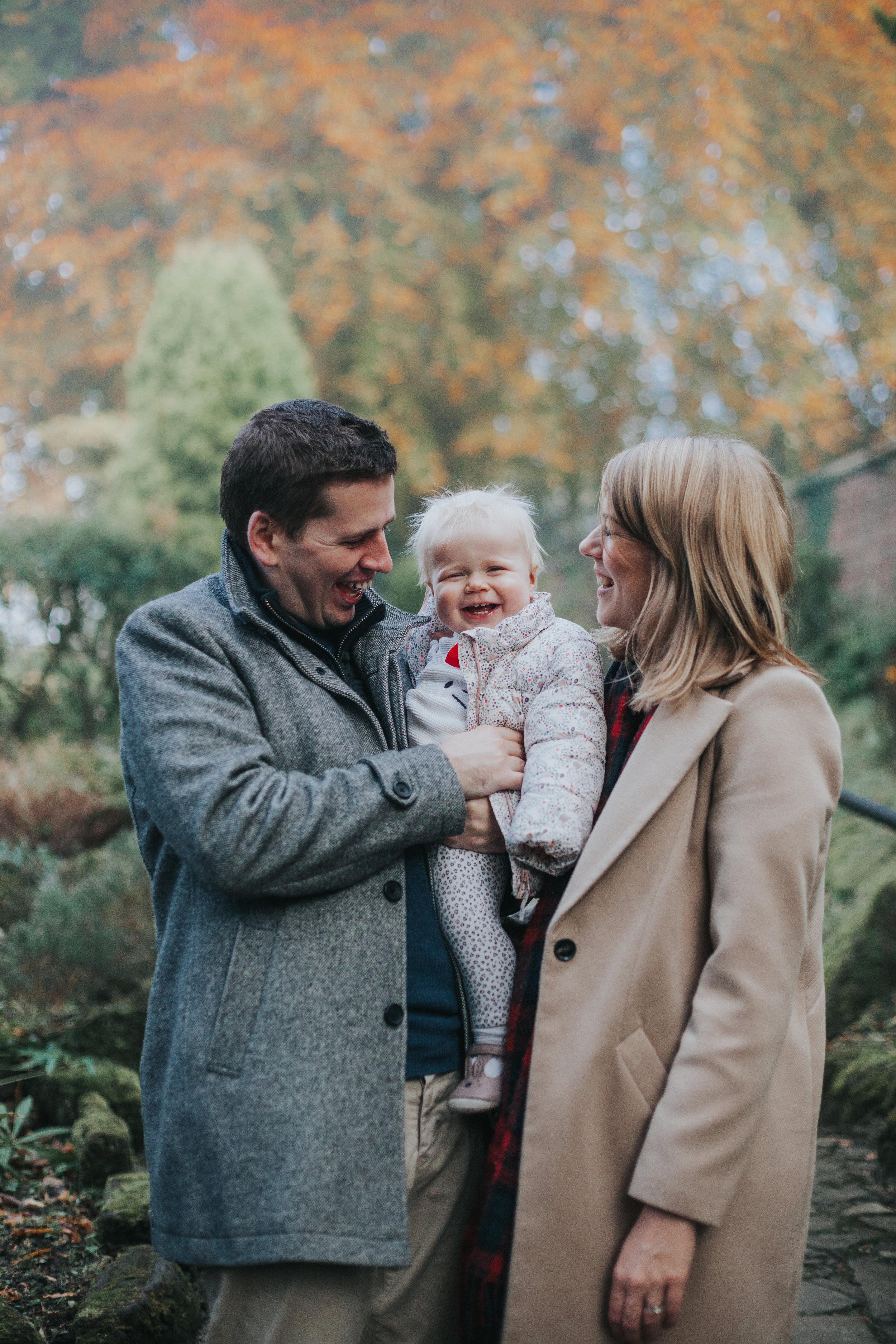 Autumnal Family Portrait in Park
