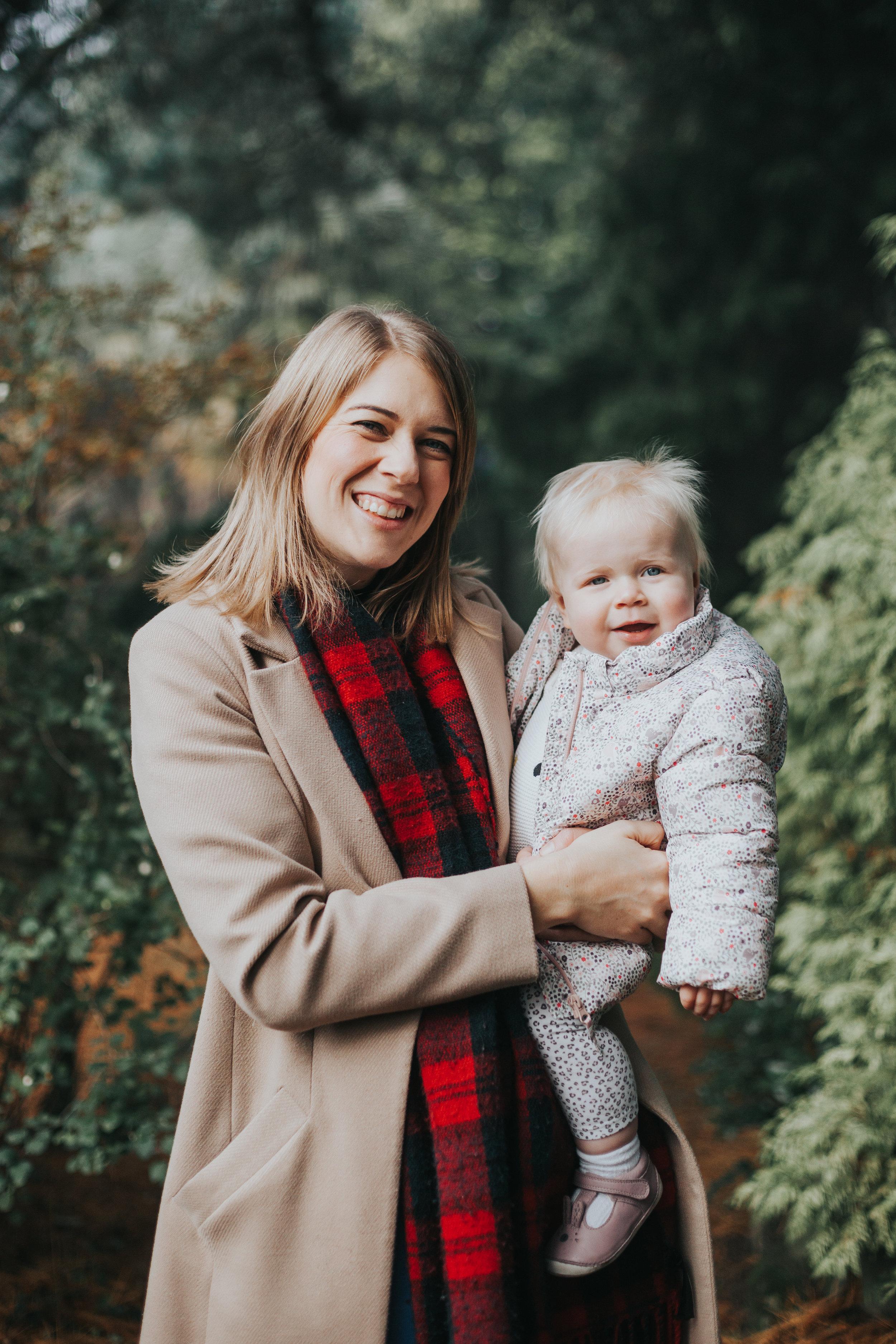 Evie and Mum.