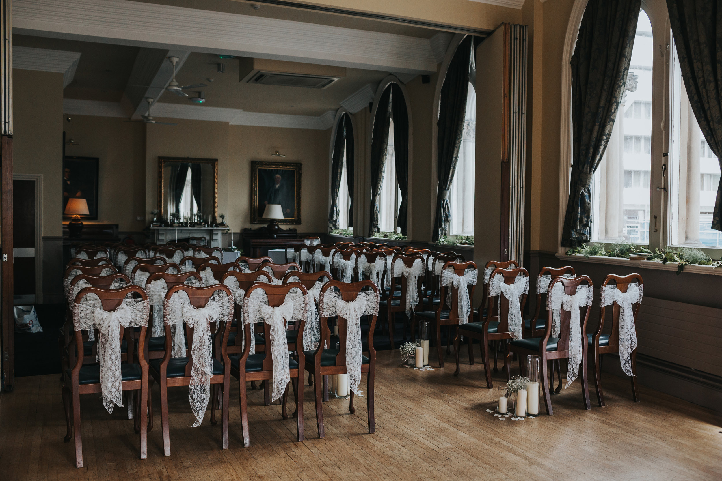 Ceremony room in The Racquet Club, Liverpool.