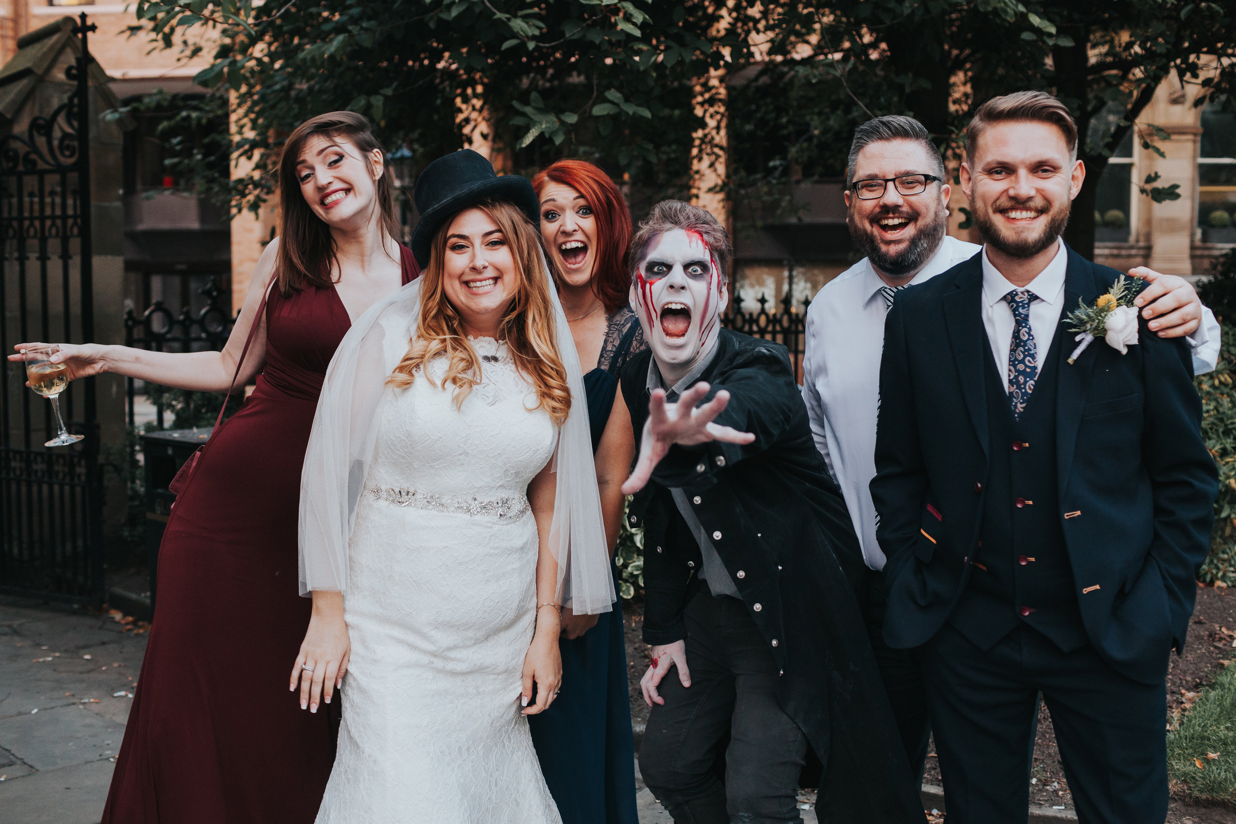 Bride and Liverpool ghost tour.