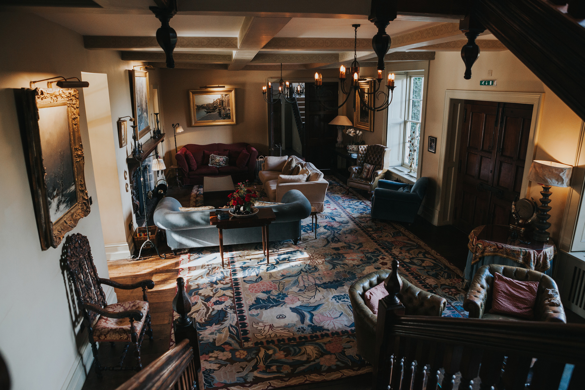 The living area at Dewsall Court