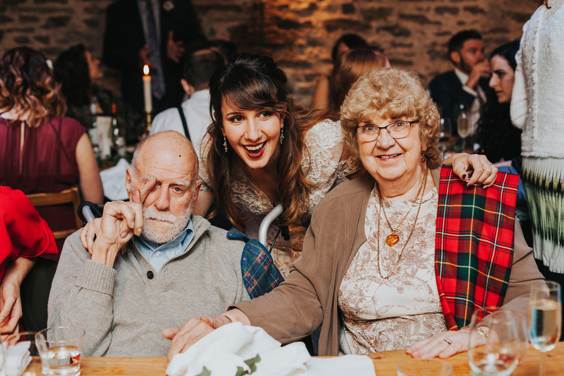Bride and her Grandparents.
