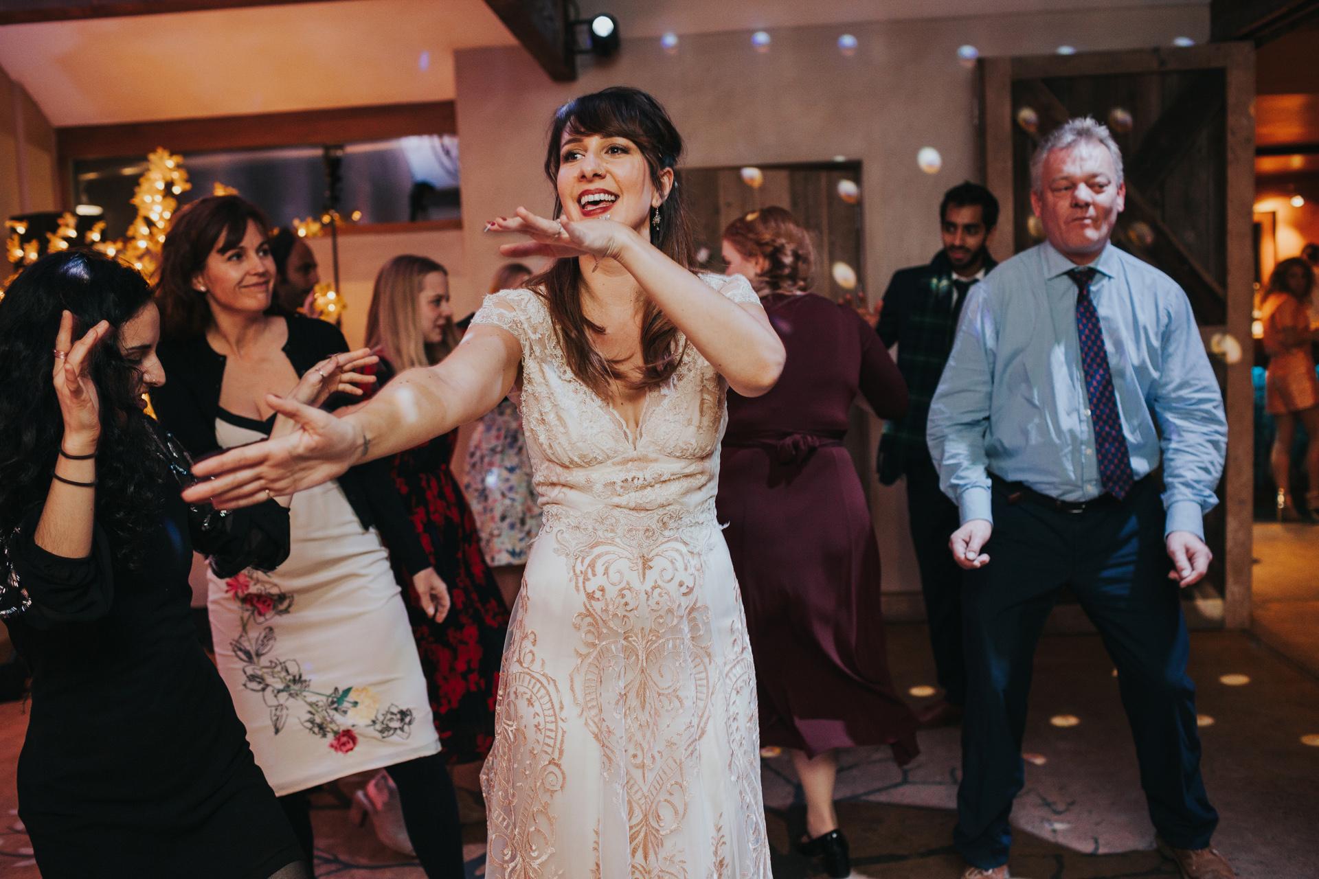 Dance floor moves.