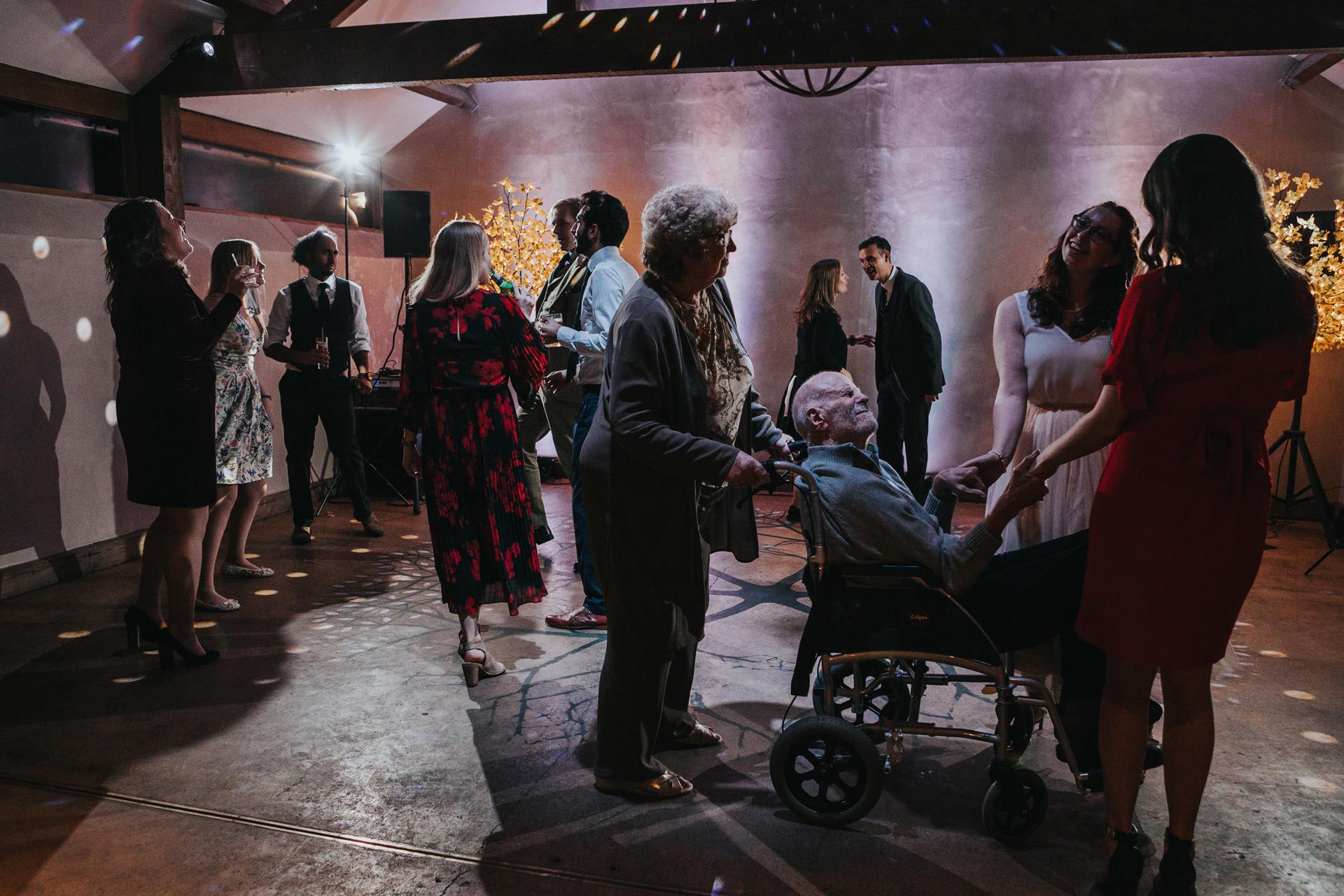 Grandad takes to the dance floor.
