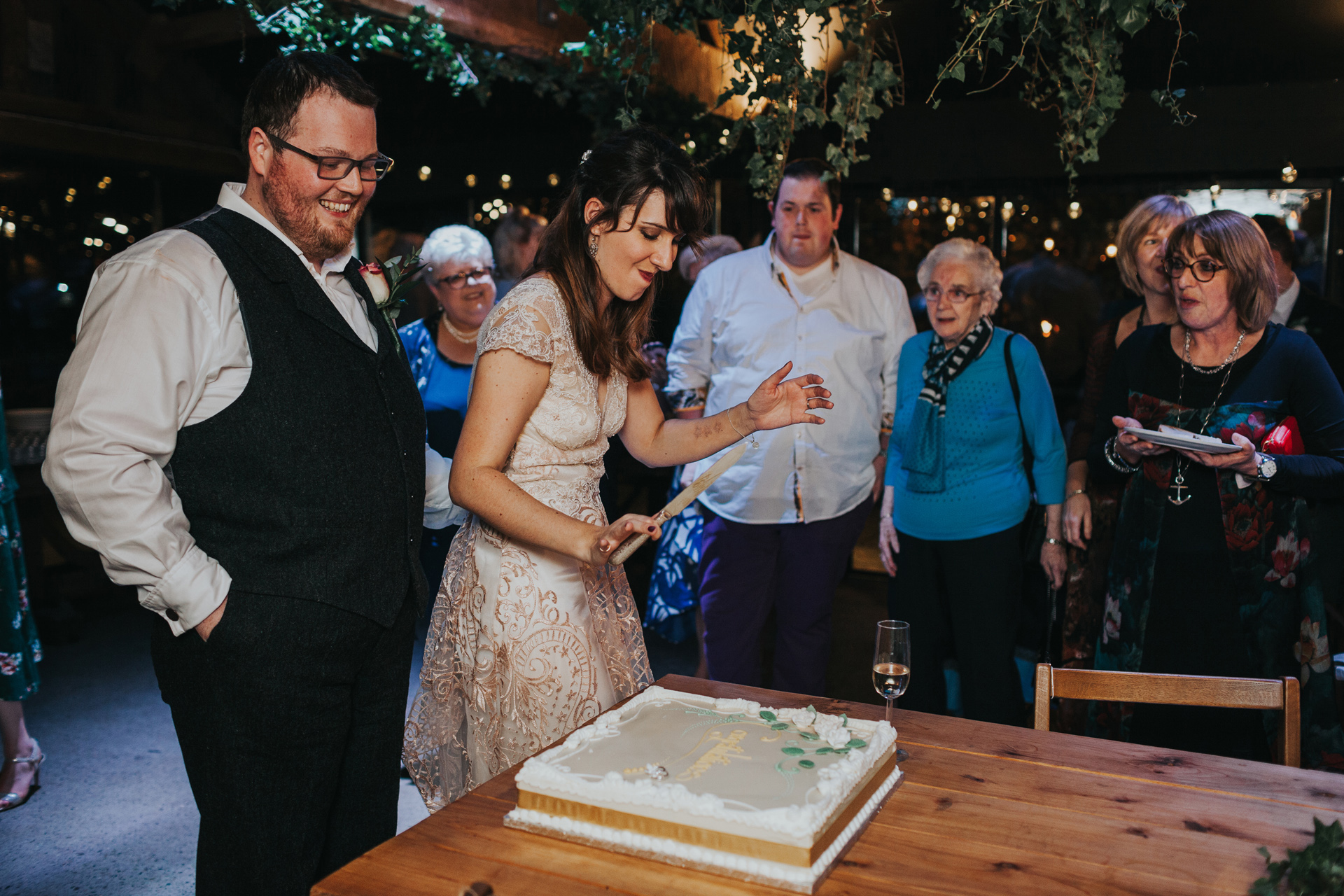 Second cake cutting.