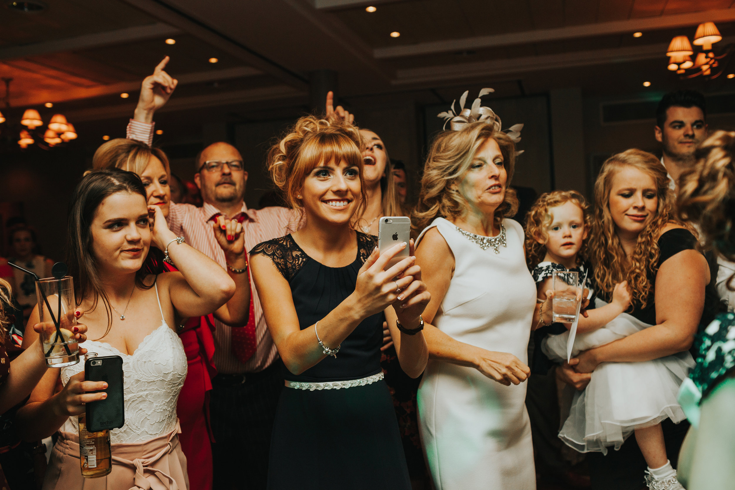 The wedding guests go wild!