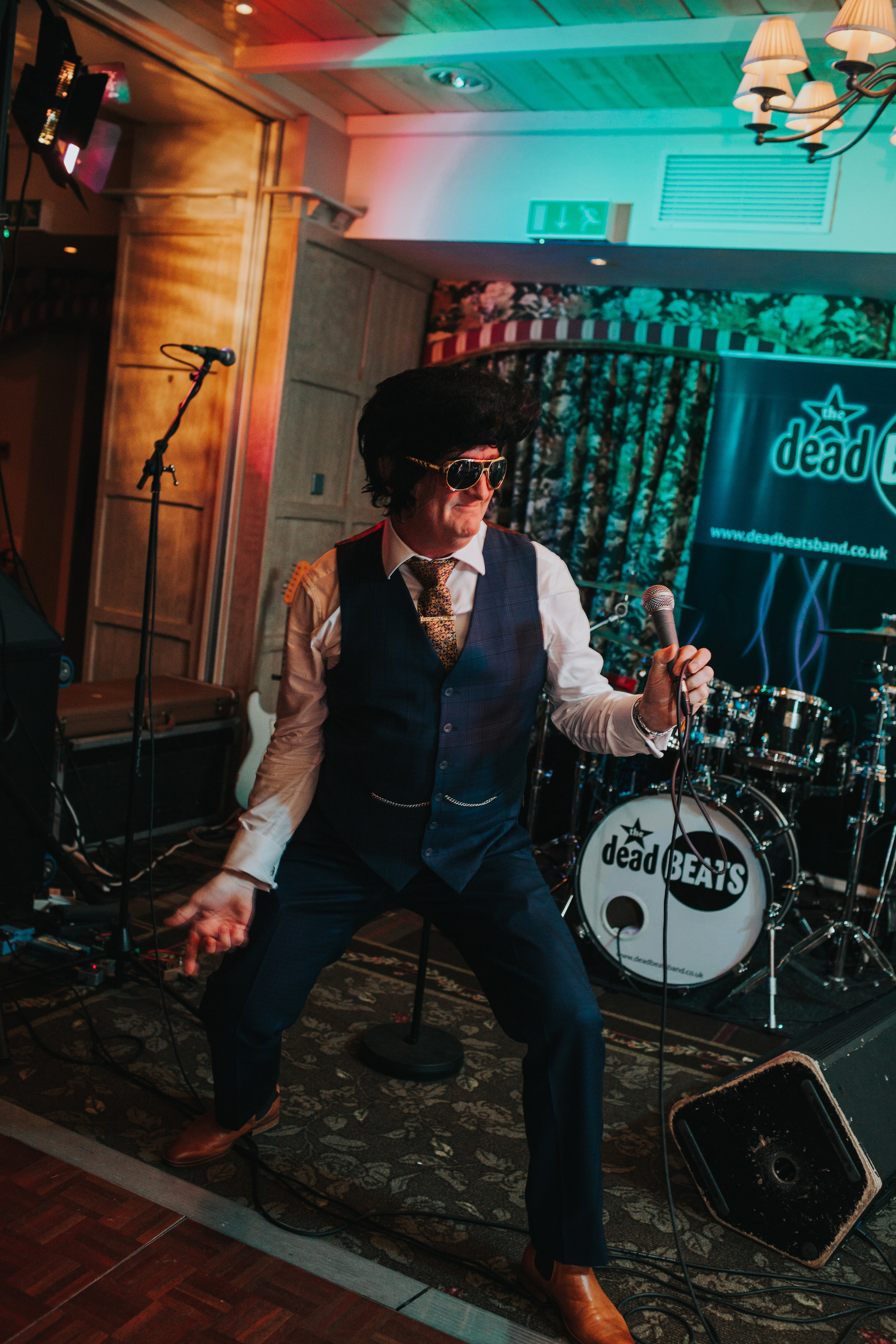 Father of the Bride performing as Elvis.