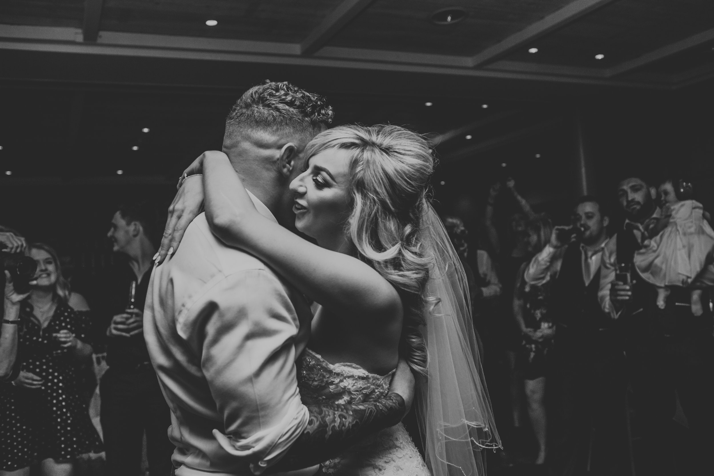 Bride and groom finally have their first dance.