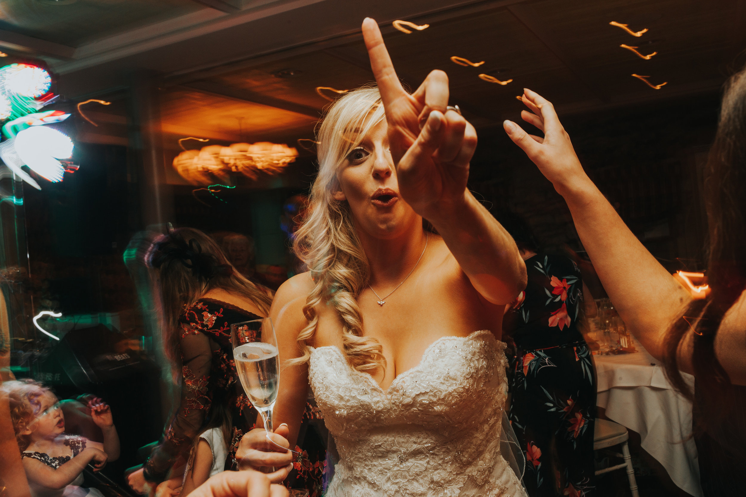 Bride getting ready to party!