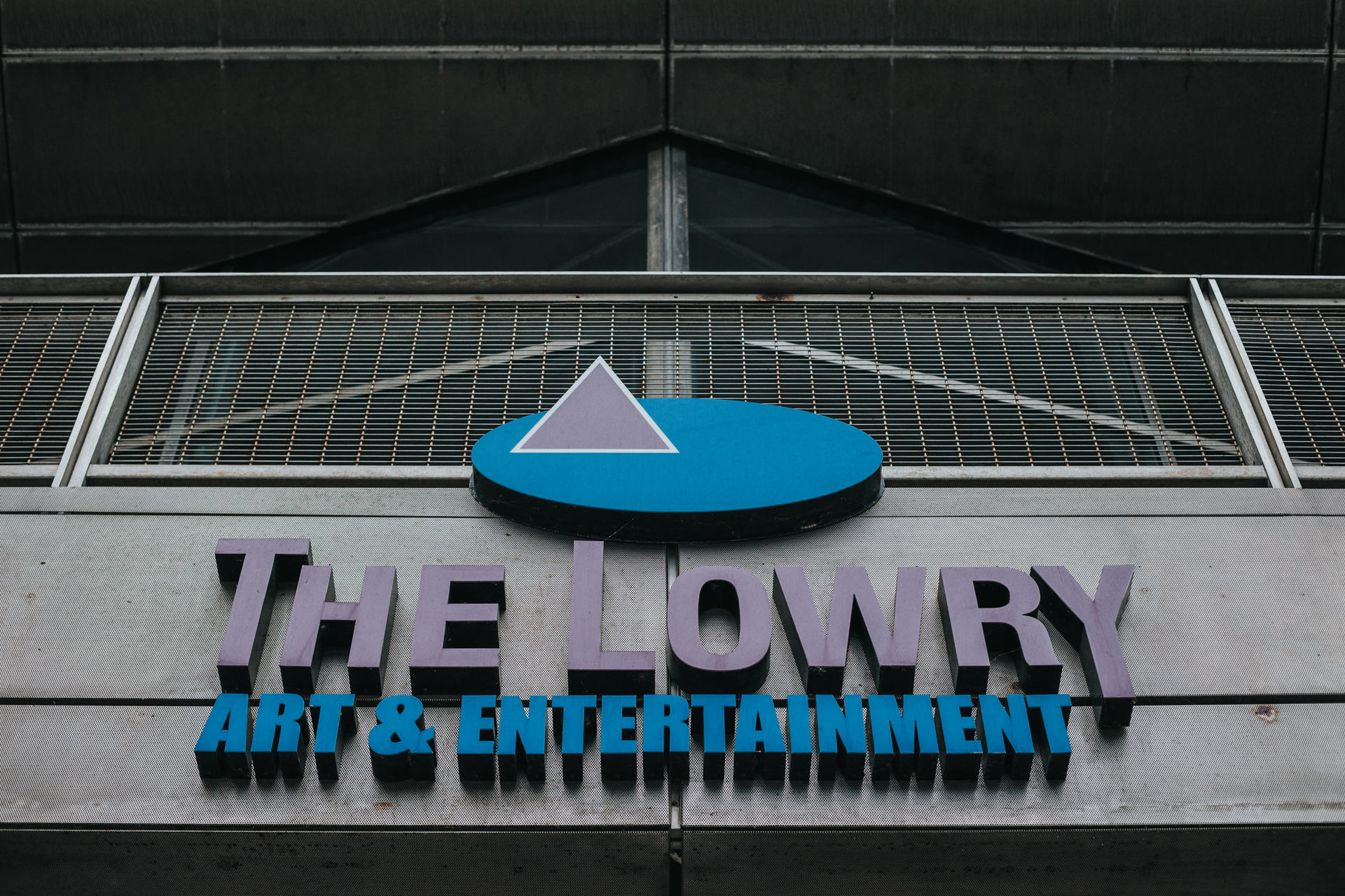 The Lowry Theatre Sign.