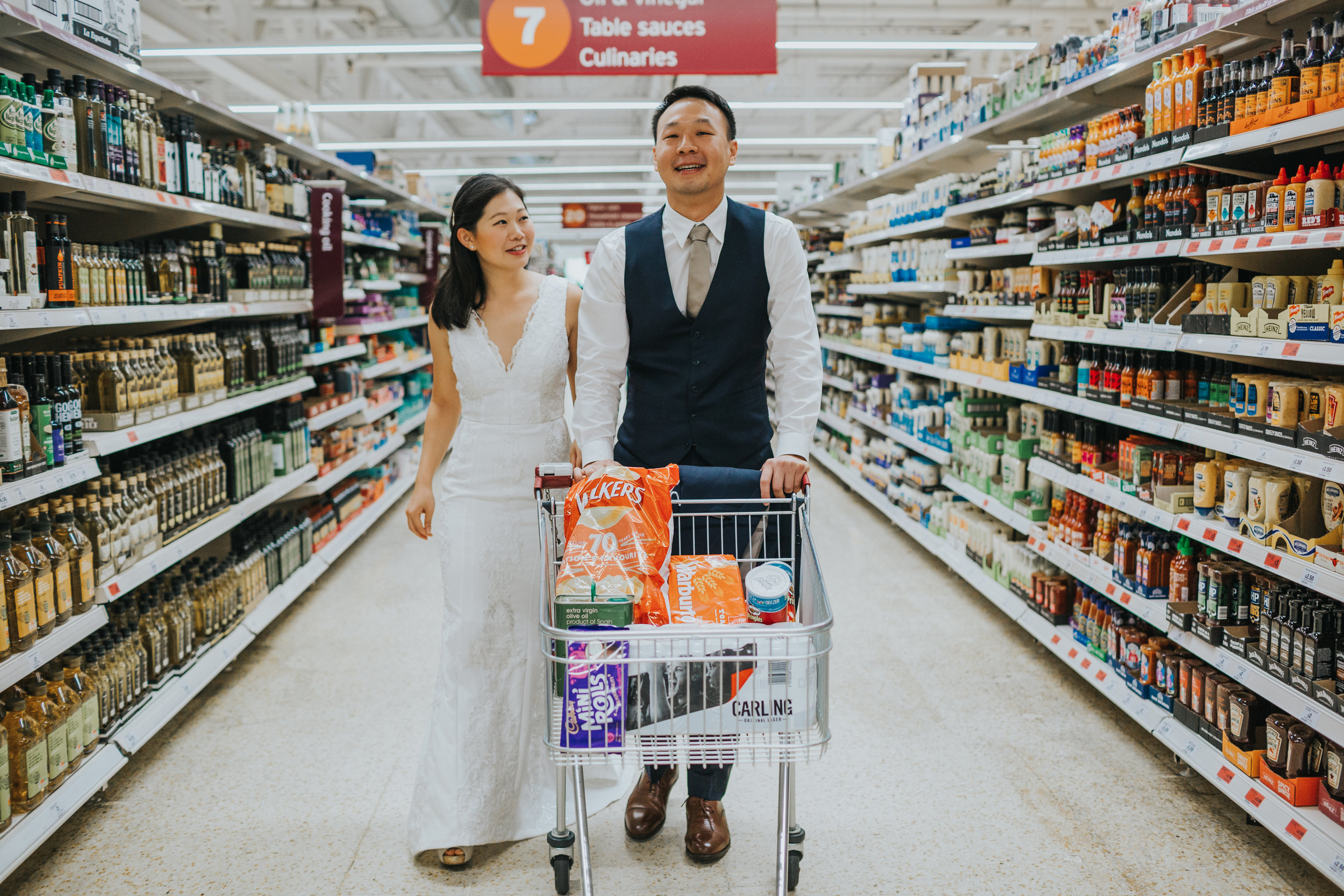 Supermarket engagement shoot.
