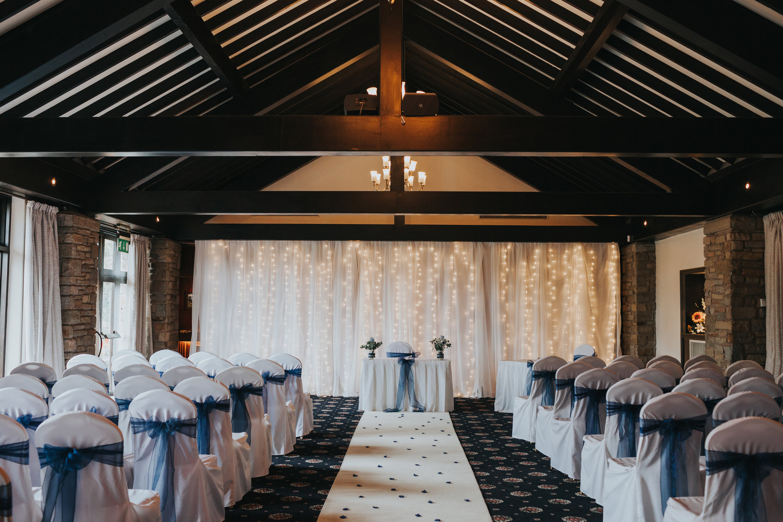 The ceremony room at Mytton Fold.