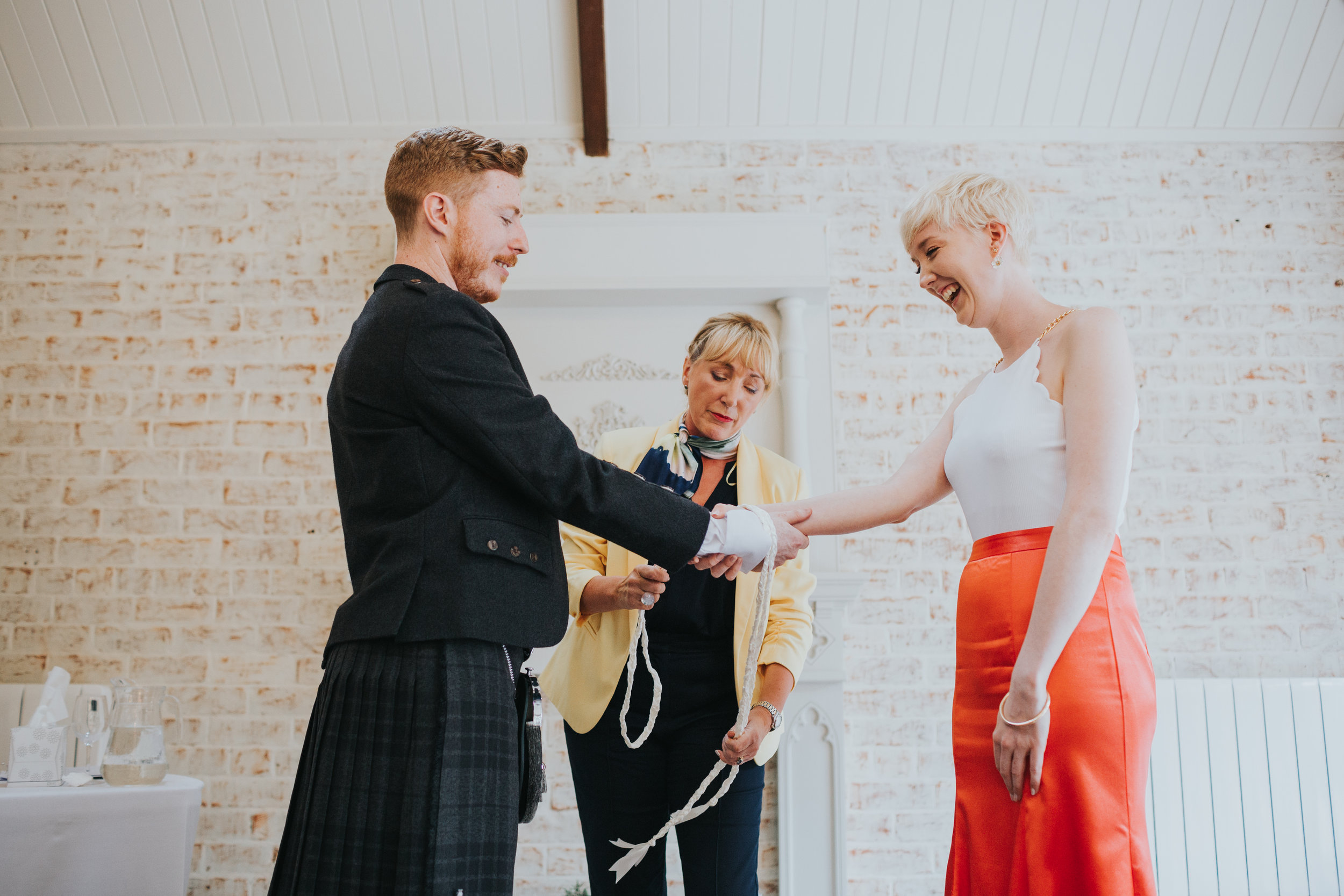 Hand fasting ceremony at Shotton Grange