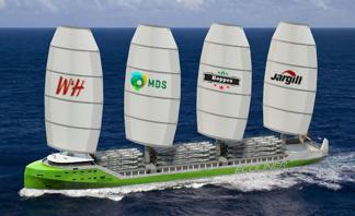 Hybrid sail design courtesy Ecoliners.eu and Dykstra Naval Architechts