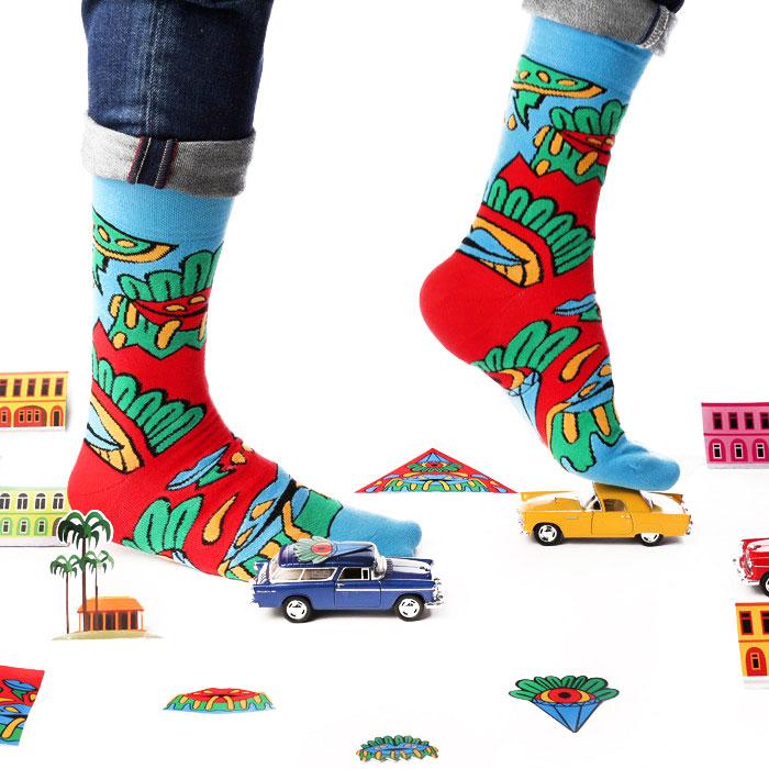 Murnau Den Linden La Isla Bonita Socks  for Lookmate London. Photo courtesy of Lookmate.   Buy it here  .