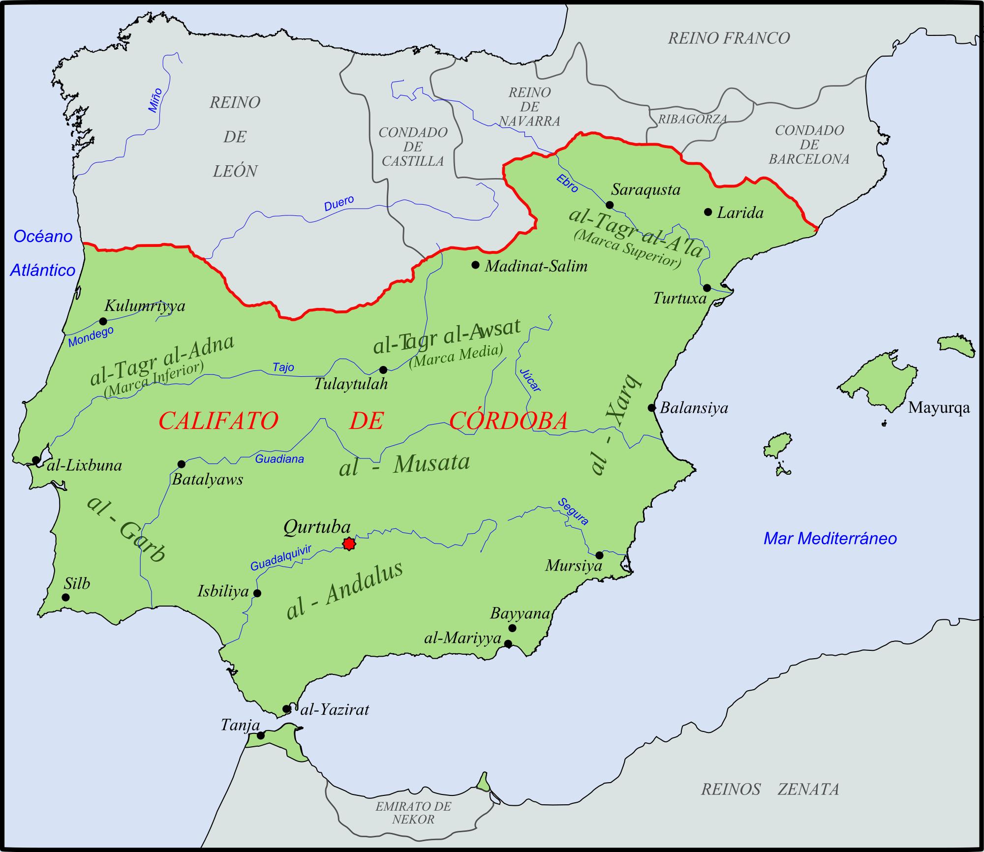 Península Ibérica, año 1000