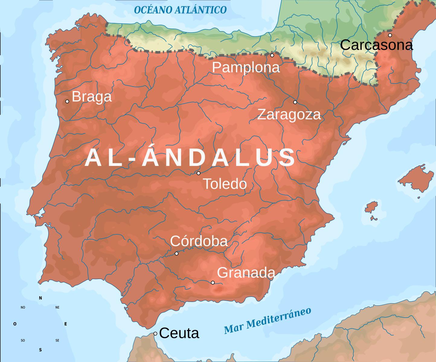 Península Ibérica, año 732