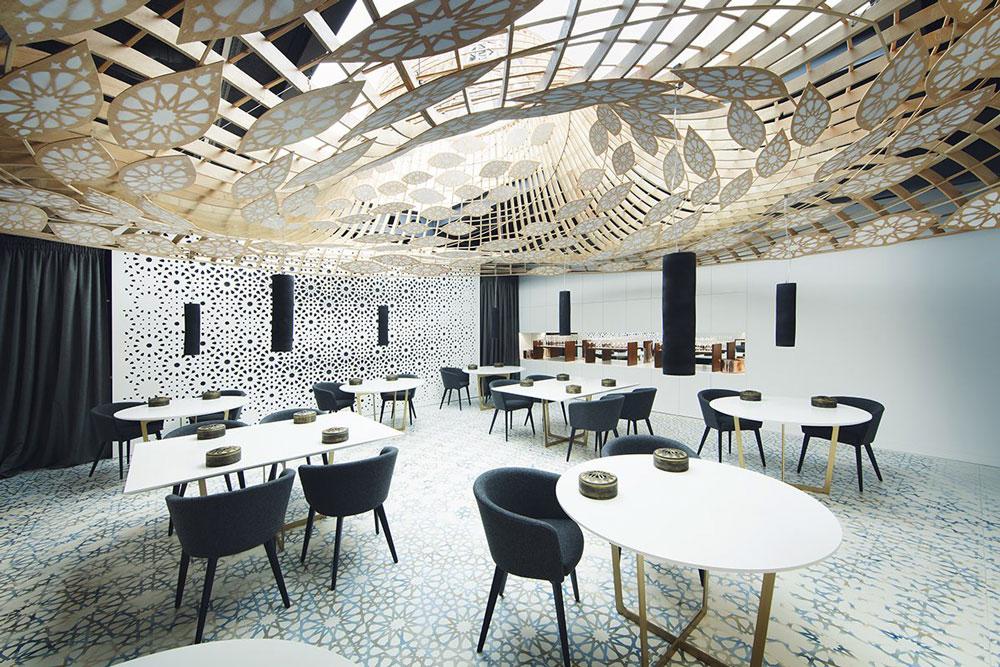 Interior de Noor restaurant. No existe fotografía que haya sabido captar, o acercarse, o ser justa, a la sensación de estar en este lugar.