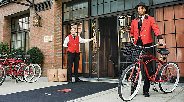 Bowery Hotel, NYC, provides bikes for guests.