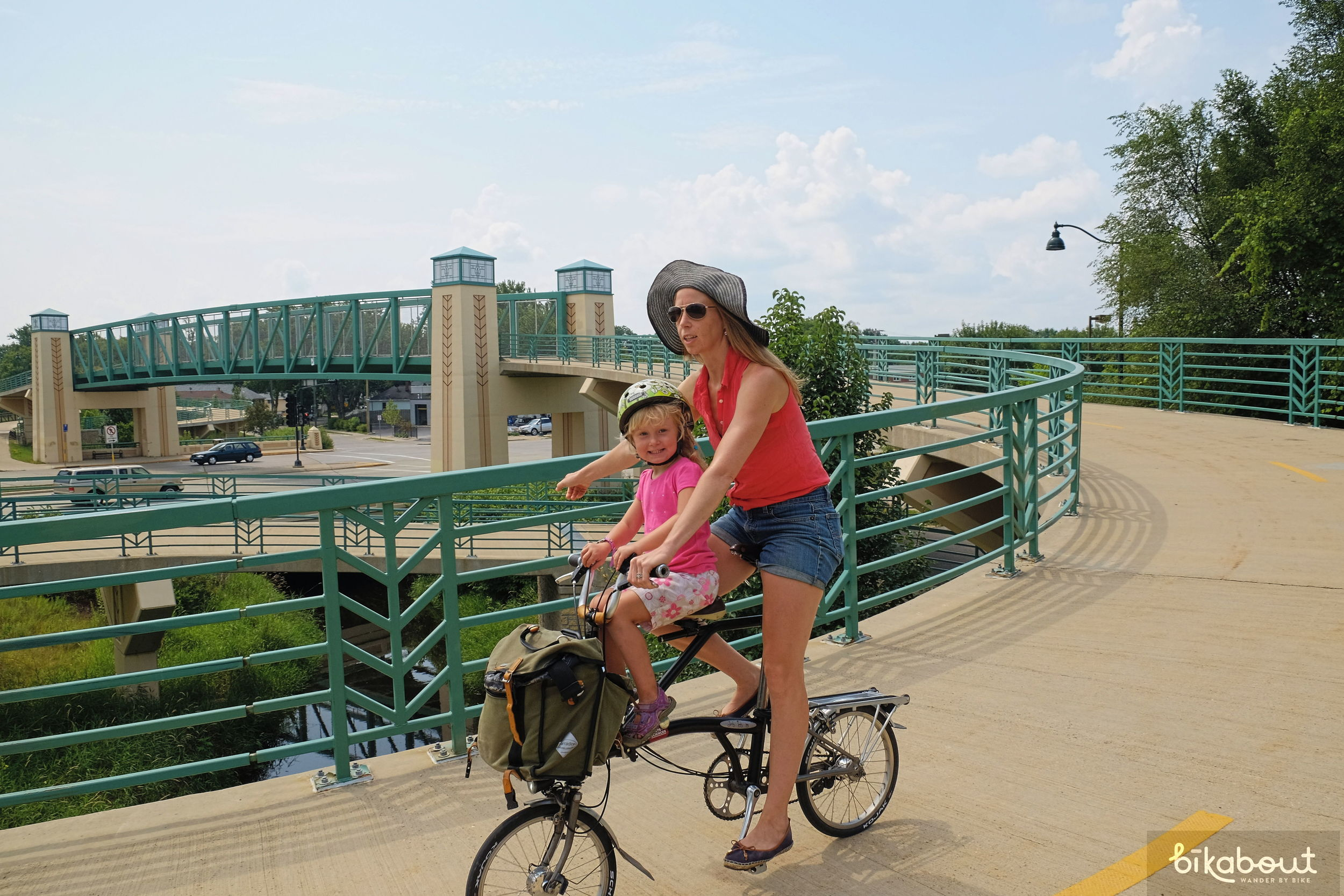 Bike bridges connect trails like the Stark River over busy streets and highways in Madison.