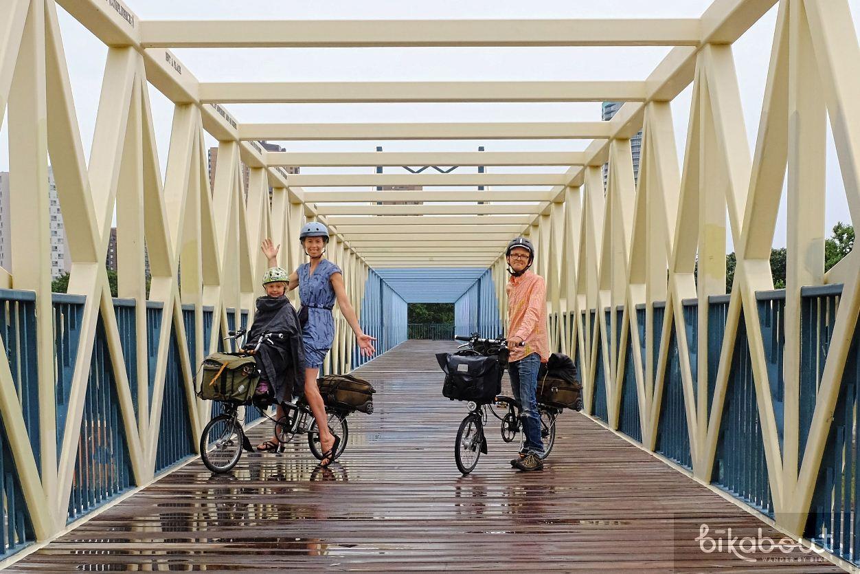 Bike bridge next to the Sculptural Garden