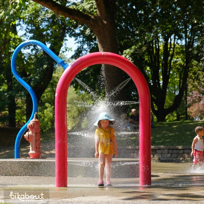 Spray & Play playground at Irving City Park in NE