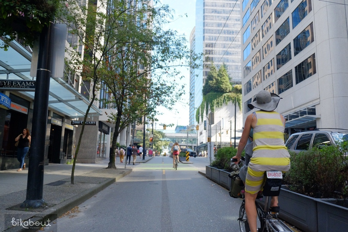 Hornby Cycle Track Downtown
