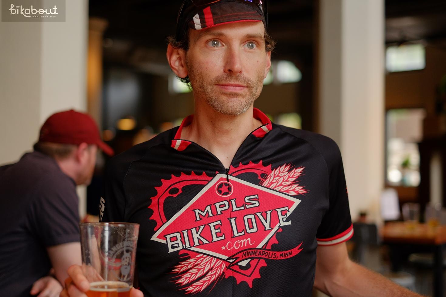 Route curator, Ben McCoy of MPLS Bike Love