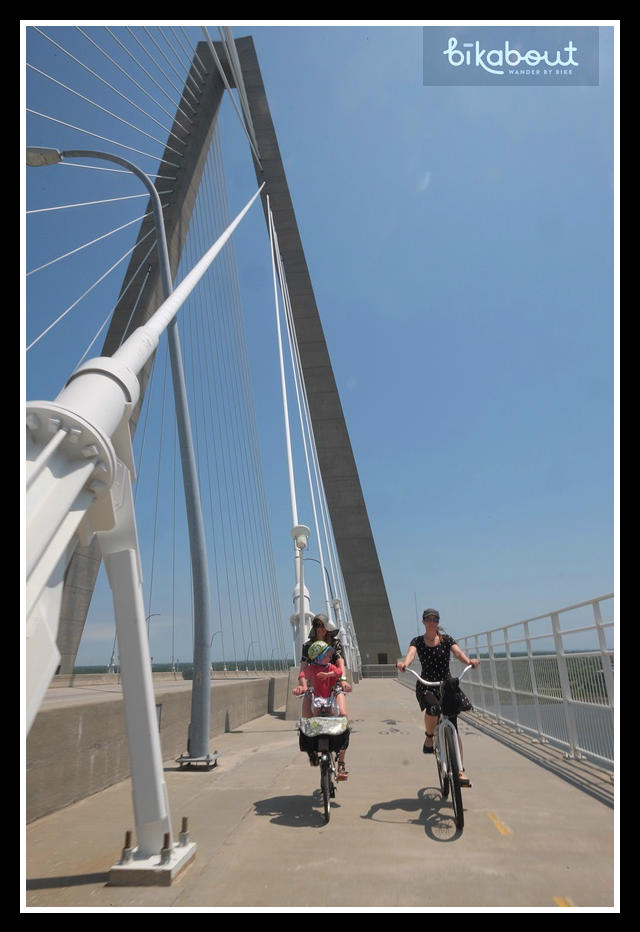 Biking over the Arthur Ravenel Bridge is scenic, thrilling and comfortable
