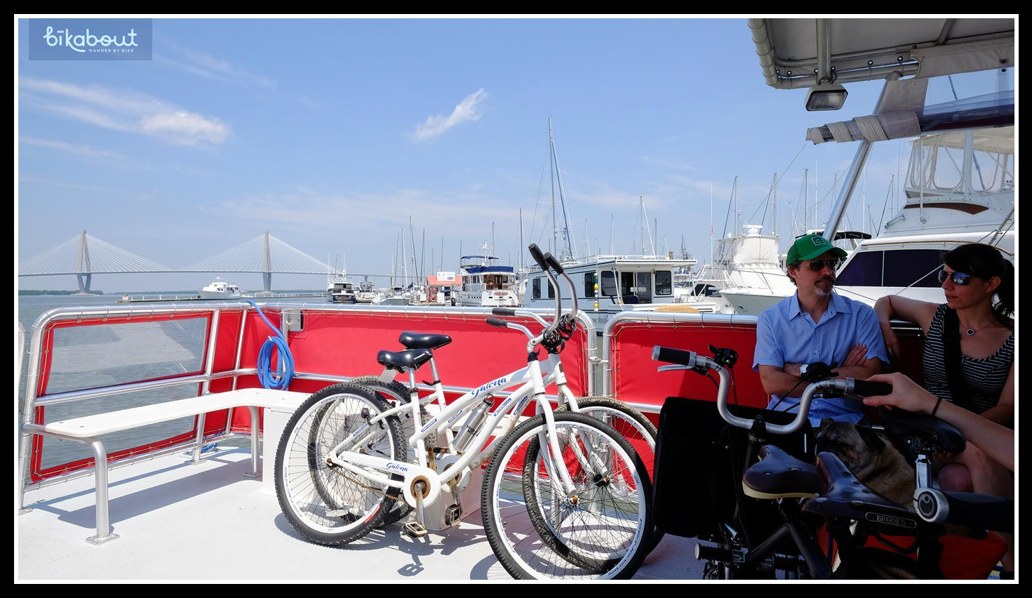 Water Taxi is bike friendly and cuts your distance in half