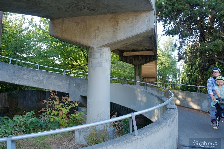 Concord Neighborhood Greenway Corkscrew Bridge