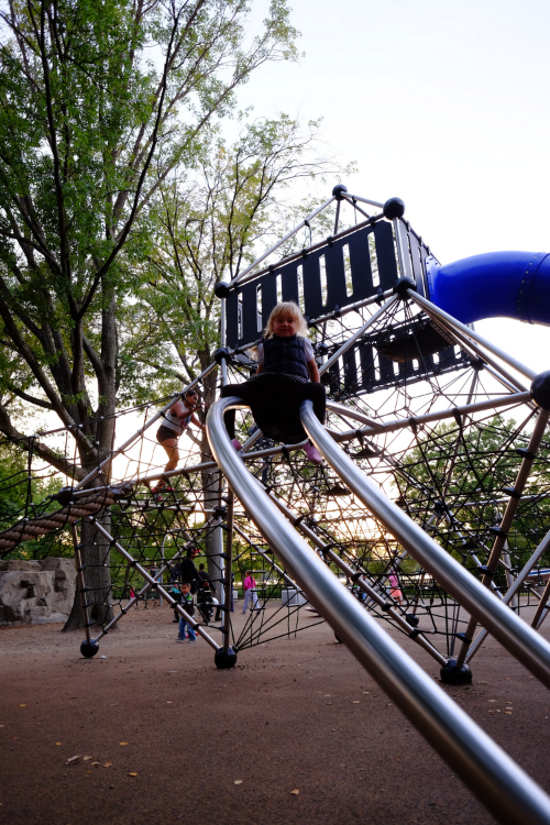 Impeccably German play structure, Boston Esplanade