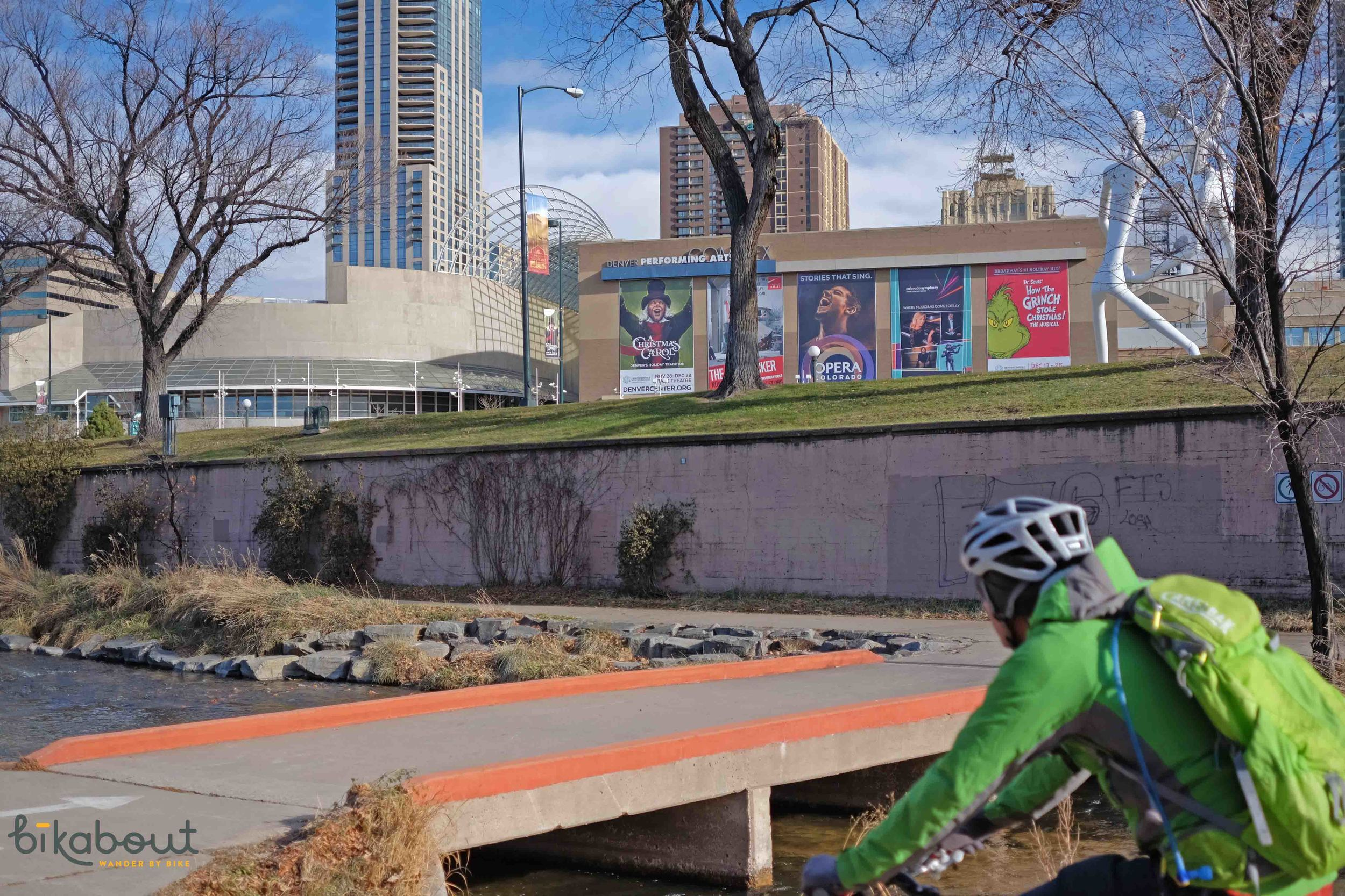 Denver has a slew of river paths that provide a calm ride next to water