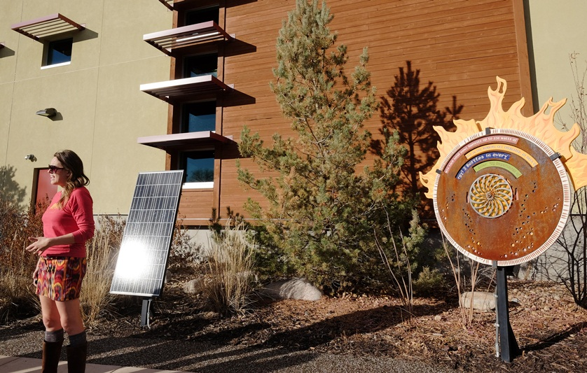 Solar panel display is part of every tour.