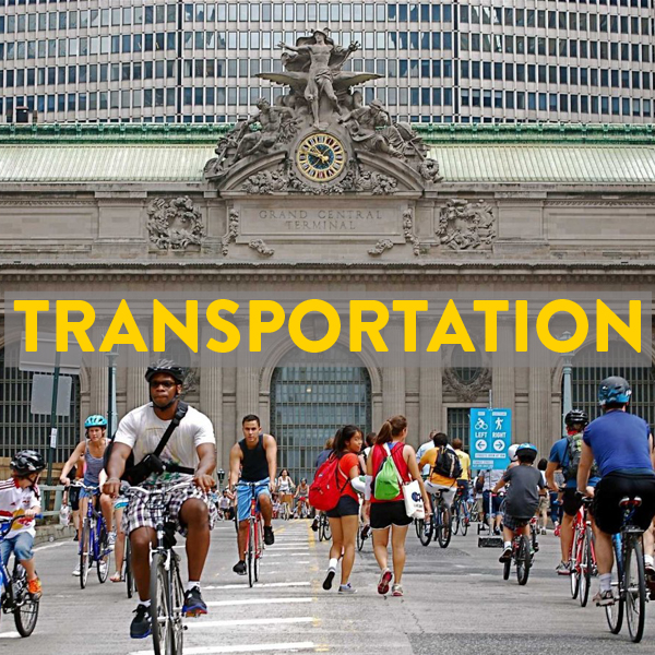 Trains, buses, flights with your bike to New York City