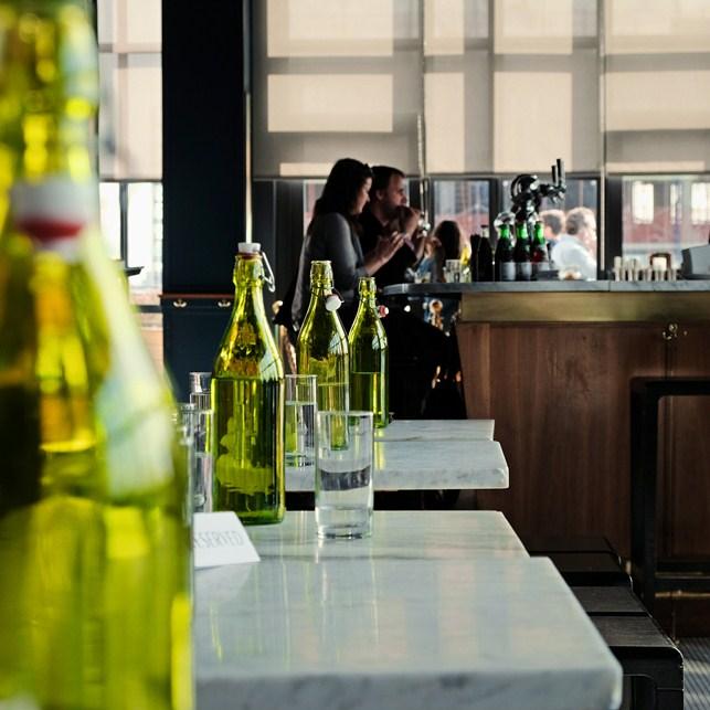 Inside the Wythe Hotel rooftop bar