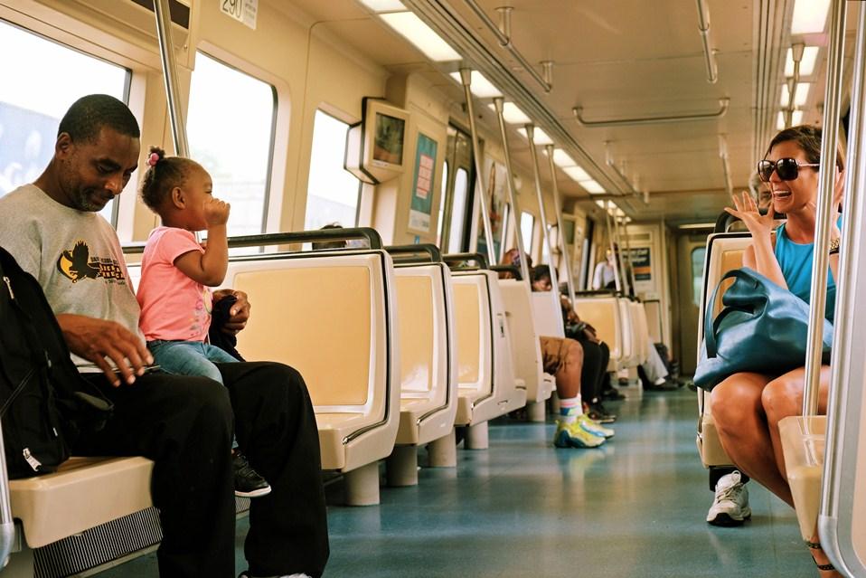 Making friends on MARTA, Atlanta's metro train system
