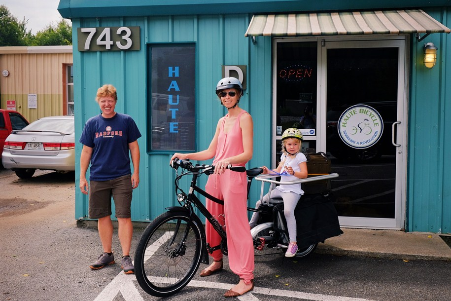 Wanna rent an electrically-assisted bike (cargo bike or regular, they have both)...? Of course you do. Go see Haute Bicycle at 743 E College Ave in Decatur, they rock!