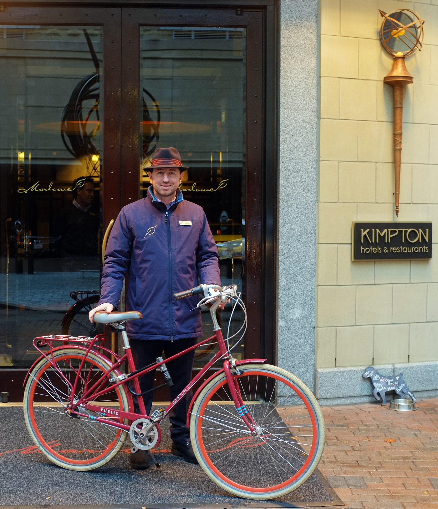Hotel Marlowe in Cambridge, MA has Public mixte bikes designed for city exploring complete with locks for when your nose, eyes or stomach demands a rest stop.