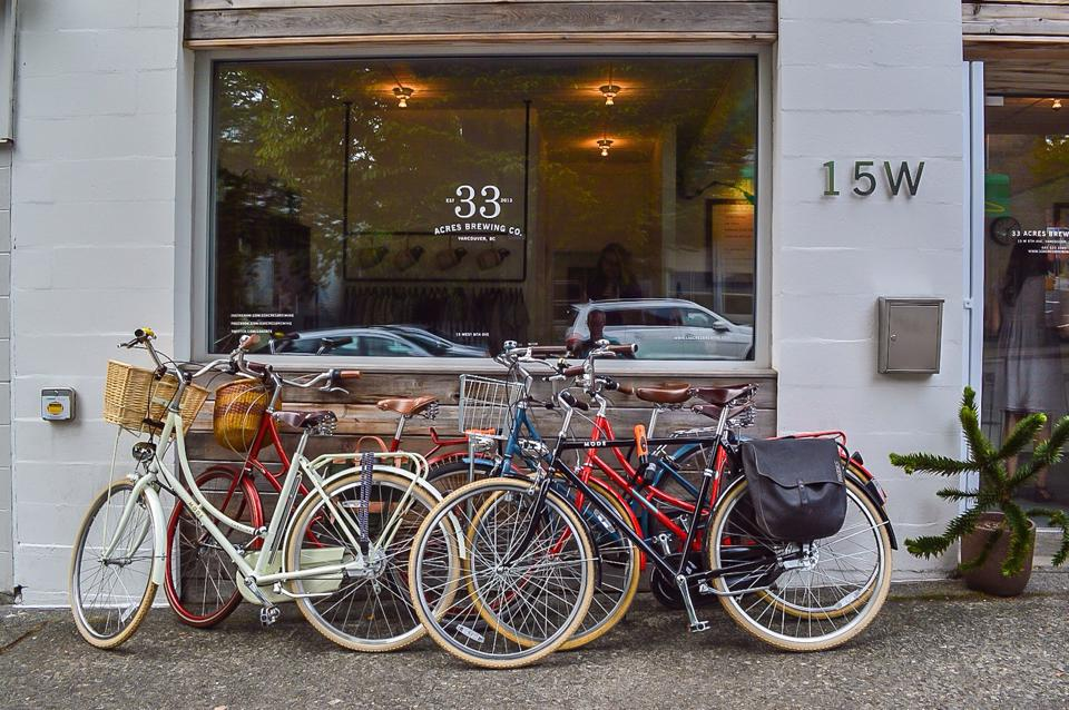 """33 Acres is on Bikabout's """"East Van Brewery Tour"""" of Vancouver. Photo and route curation by ModaCity."""