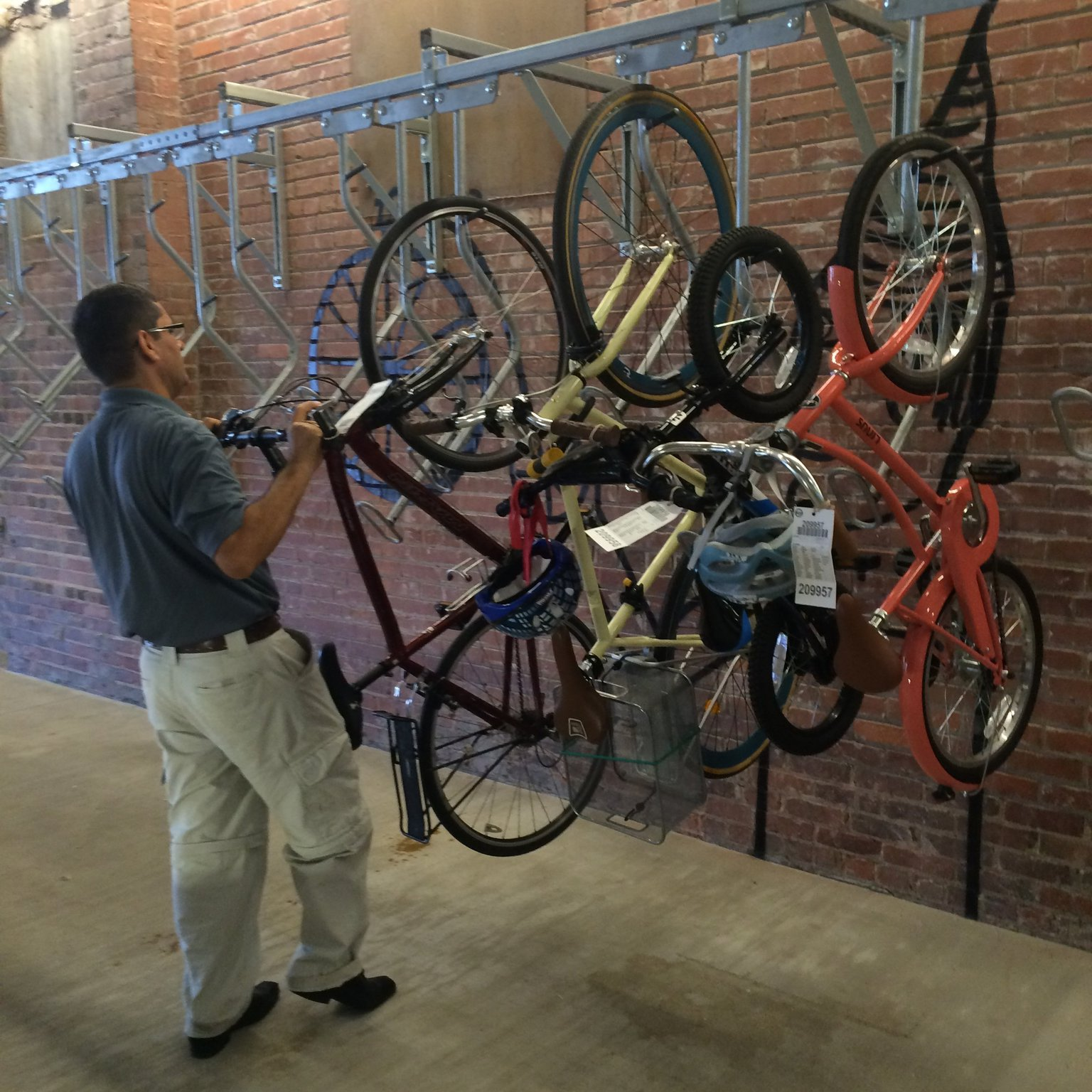 Bicycle Valet. photo credit to AJC