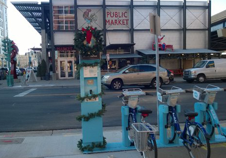 Milwaukee's Bublr bikes are not only open year 'round, but they get festive with it!