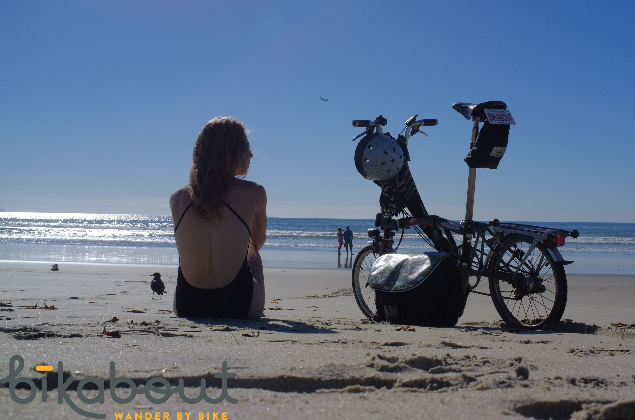 Me very much enjoying Silver Strand Beach in November.