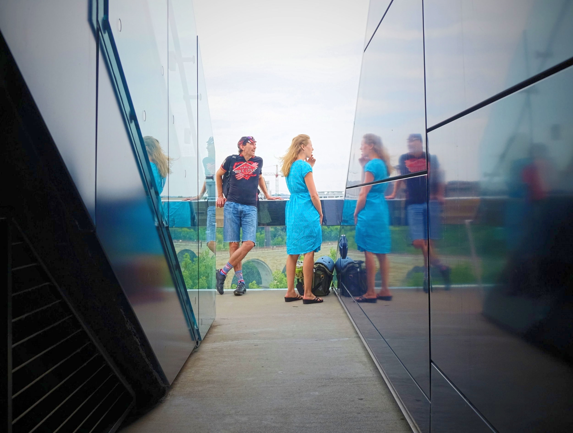 Guthrie Theatre's cantilevered viewing area is free to the public.