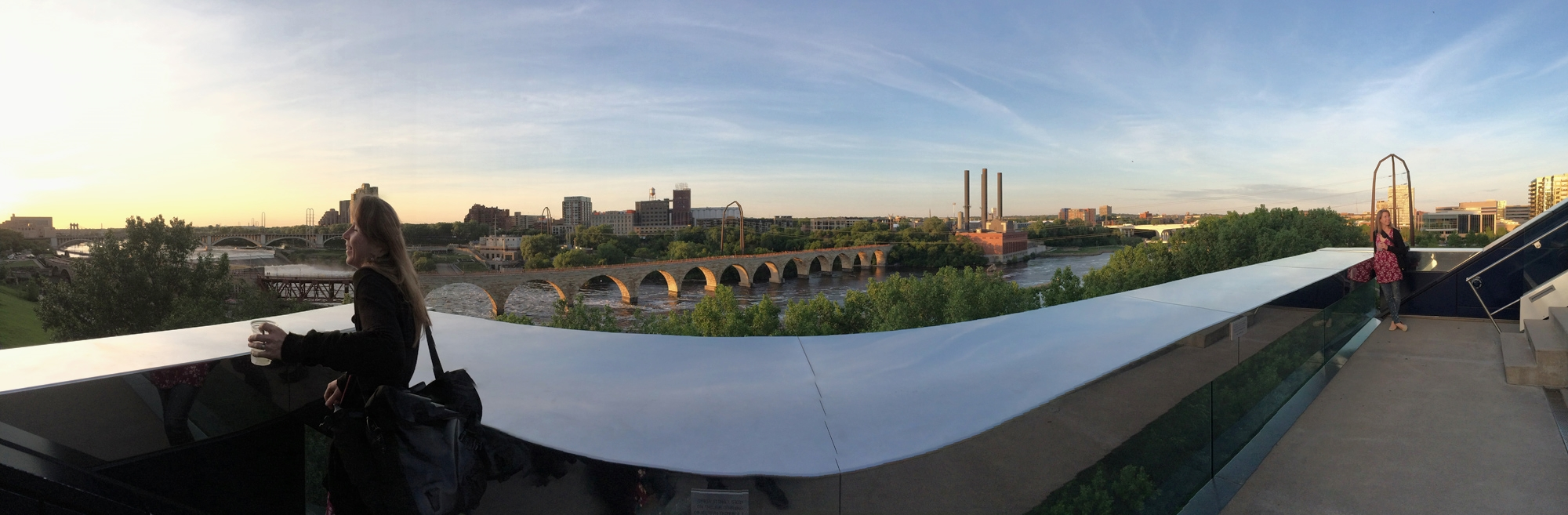 The view from the Guthrie Theatre. Photo credit to Steven Nutter.