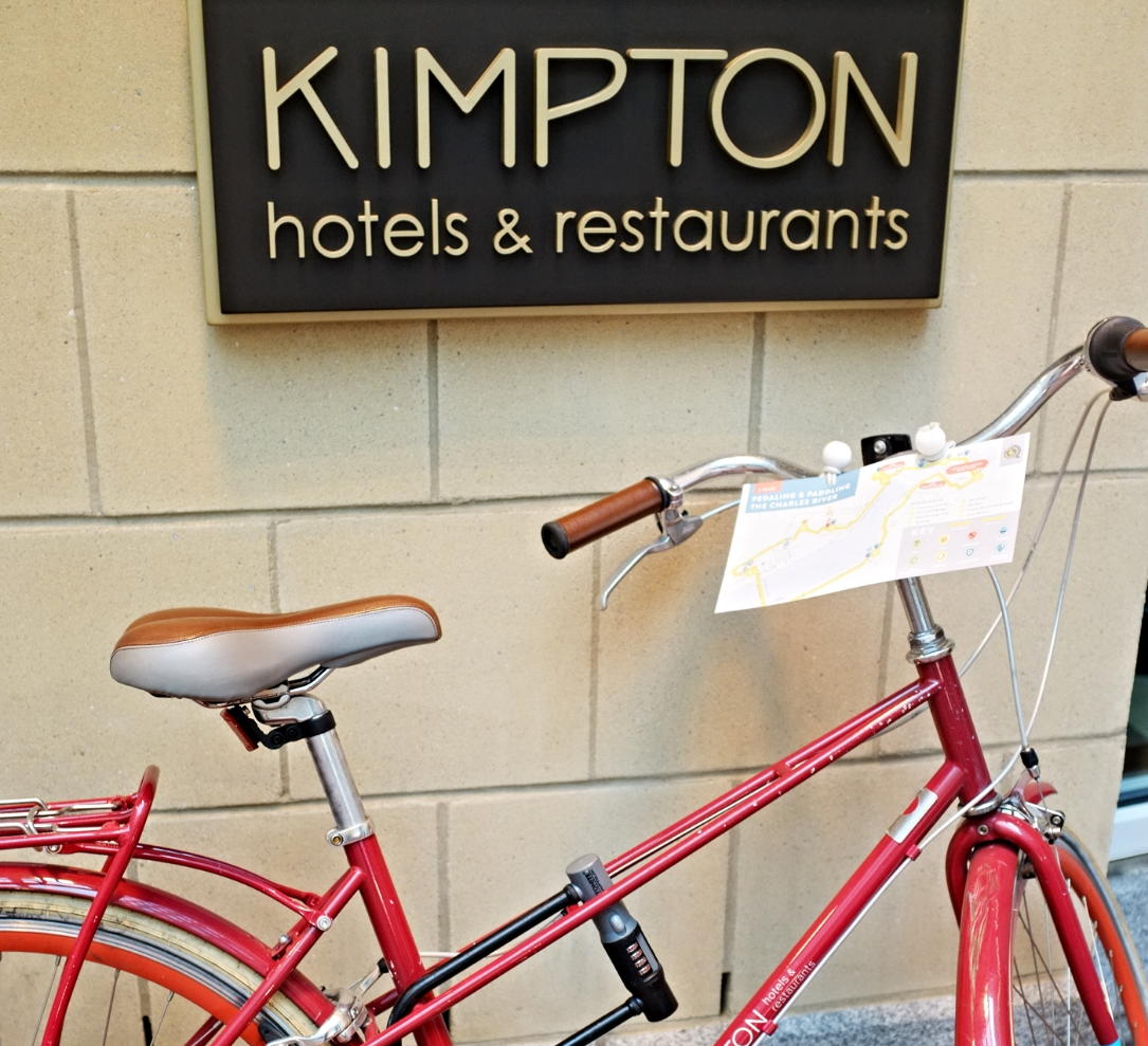 Stay at a member hotel and you'll get a complimentary bike + bikabout tour map mounted to the handlebars.
